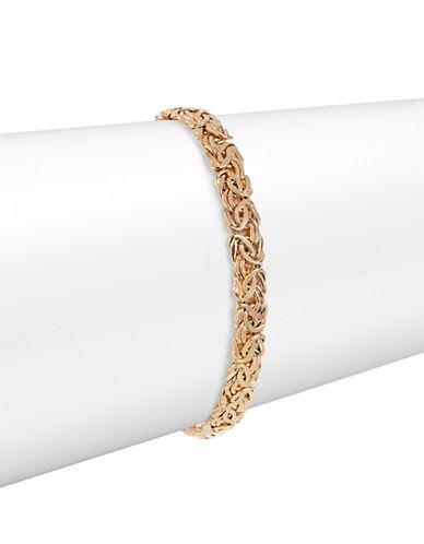 Fine Jewellery 14K Yellow Gold Byzantine Bracelet-GOLD-One Size