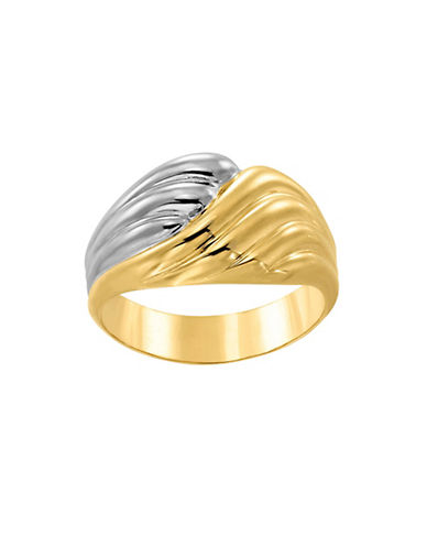 Fine Jewellery Two-Toned Wave Ring-GOLD-7