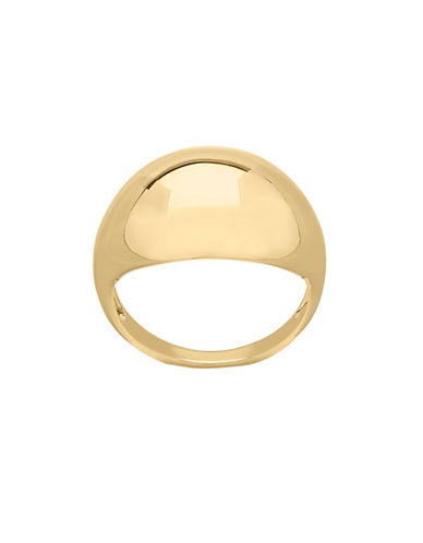 Fine Jewellery Polished Dome Ring-GOLD-7