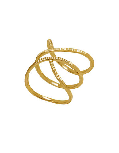 Fine Jewellery 14K Gold Wrapped Bypass Ring-GOLD-7