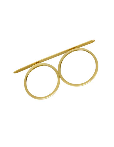 Fine Jewellery 14K Gold Two-Finger Bar Ring-GOLD-7