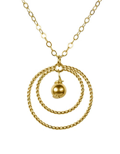 Fine Jewellery 14K Double Rope Gold Bead Drop Necklace-GOLD-One Size