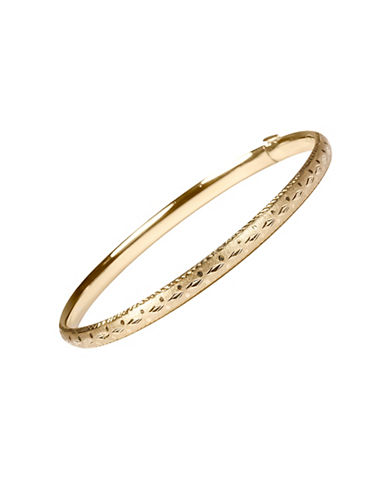 Fine Jewellery 14K Yellow Gold Satin Bangle-GOLD-One Size