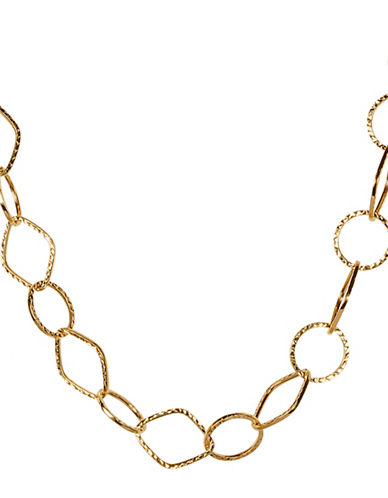 Fine Jewellery 14K Two-Tone Chain Link Necklace-GOLD-One Size