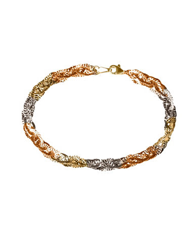 Fine Jewellery 14k Gold Tri-Tone Bracelet-GOLD-One Size