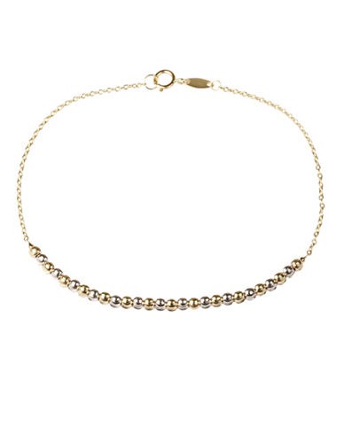 Fine Jewellery 14K Gold Two-Tone Bracelet-GOLD-One Size