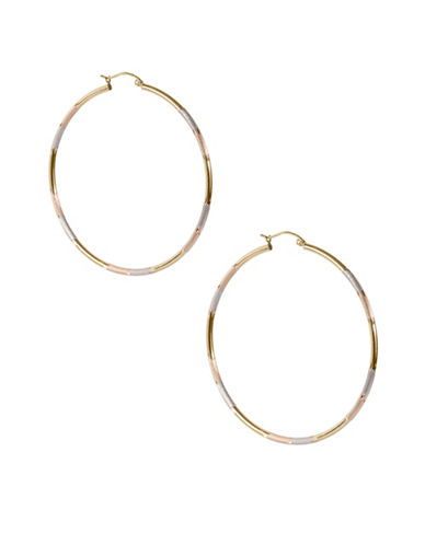Fine Jewellery 14K Yellow Gold Hoop Earrings-GOLD-One Size