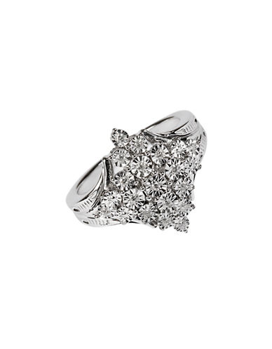 Fine Jewellery Marquise Cut Sterling Silver Ring with 0.10 TCW Diamonds-DIAMOND-7