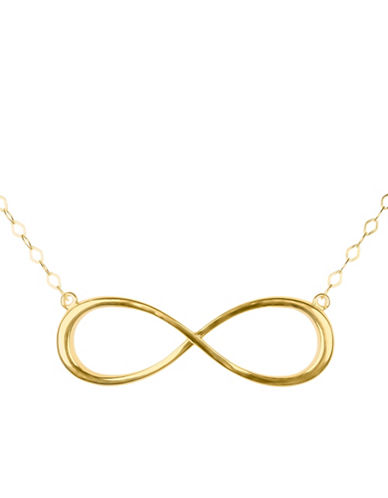 Fine Jewellery 14K Yellow Gold Infinity Necklace-YELLOW GOLD-One Size