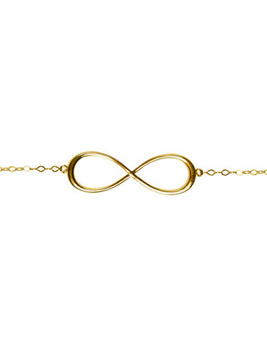 Fine Jewellery 14K Yellow Gold Infinity Bracelet-YELLOW GOLD-One Size