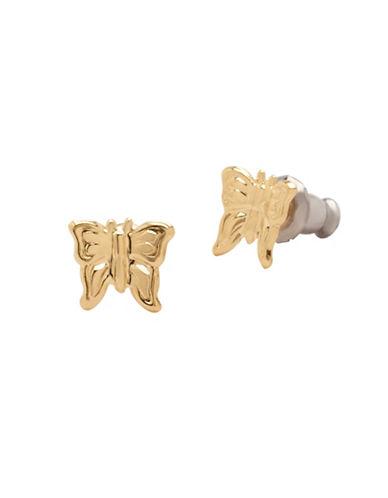 Fine Jewellery 14KT Yellow Gold Butterfly Earrings-GOLD-One Size