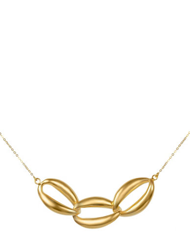 Fine Jewellery 14K Yellow Gold Triple Twist Link Necklace-GOLD-One Size