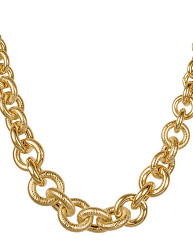 Fine Jewellery 14K Yellow Gold Circle Link Necklace-GOLD-One Size