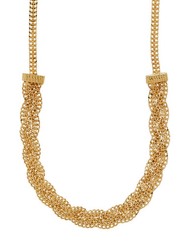 Fine Jewellery 14K Yellow Gold Braided Mesh Necklace-GOLD-One Size