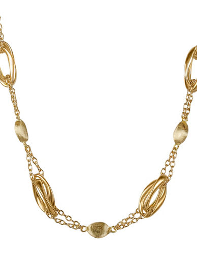 Fine Jewellery 14K Yellow Gold Oval Chain Necklace-GOLD-One Size
