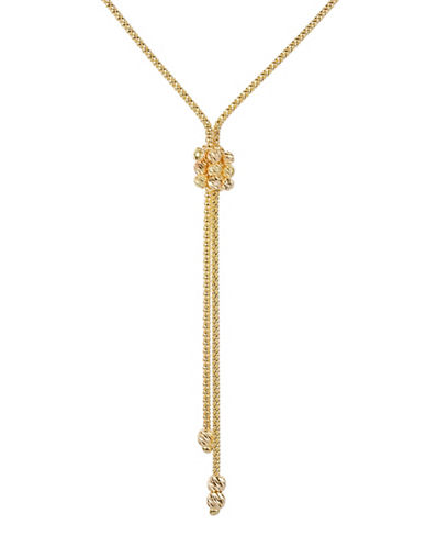 Fine Jewellery 14K Yellow Gold Popcorn Lariat Necklace-GOLD-One Size