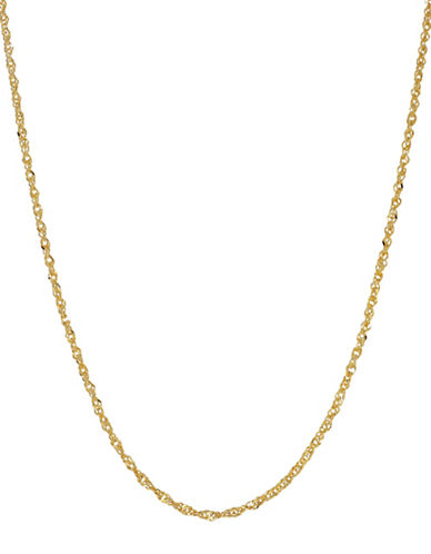 Fine Jewellery 14K Yellow Gold Chain Necklace-GOLD-One Size