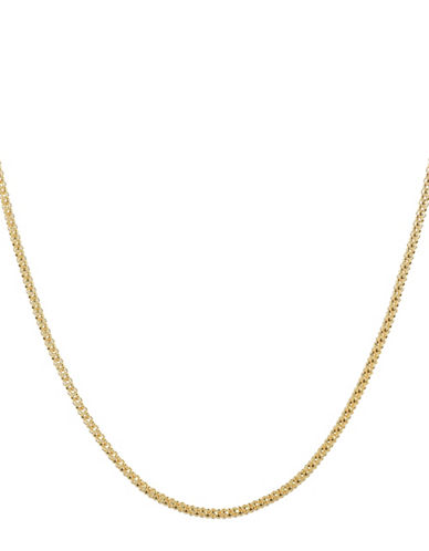 Fine Jewellery 14KT Yellow Gold Popcorn Slider Necklace-GOLD-One Size