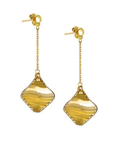Fine Jewellery 14KT Gold Two-Tone Dangle Earrings-GOLD-One Size