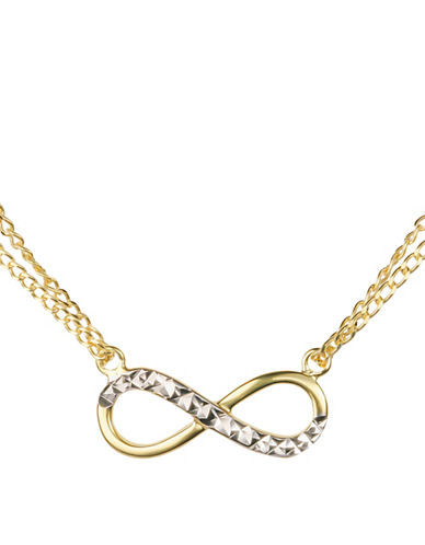 Fine Jewellery 14K Yellow Gold Infinity Necklace-GOLD-One Size