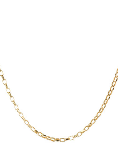 Fine Jewellery 14KT Gold Rolo Link Necklace-GOLD-One Size