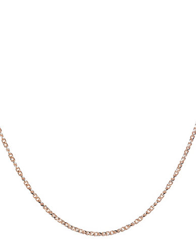 Fine Jewellery 14KT Gold Chain Link Necklace-ROSE GOLD-One Size