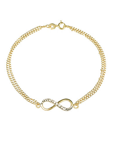 Fine Jewellery 14KT Yellow Gold Chain Bracelet-GOLD-One Size