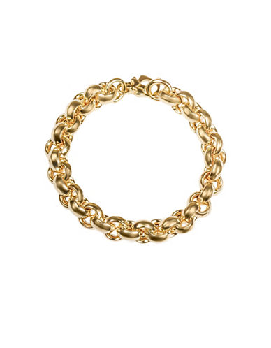 Fine Jewellery 14KT Gold Link Bracelet-GOLD-One Size