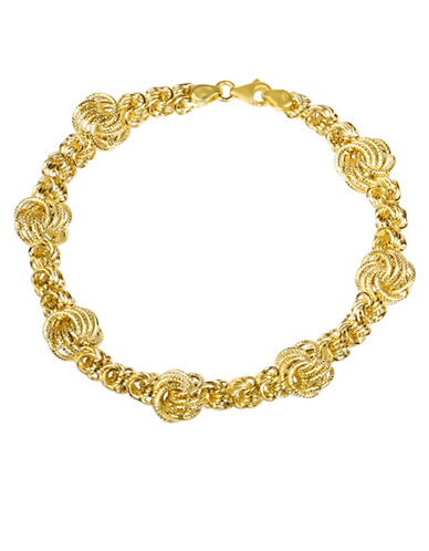 Fine Jewellery 14KT Yellow Gold Rosetta Bracelet-GOLD-One Size