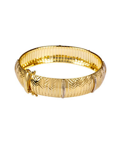 Fine Jewellery 14KT Gold Cubetto Bracelet-GOLD-One Size