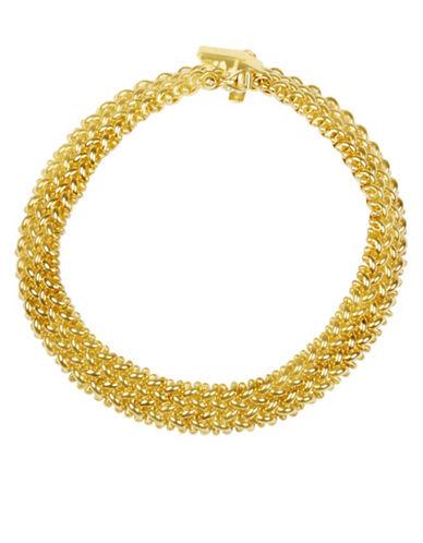 Fine Jewellery 14KT Gold Woven Bracelet-GOLD-One Size