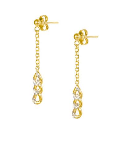 Fine Jewellery 14K Yellow Gold Chain Drop Earrings-GOLD-One Size