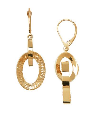 Fine Jewellery 14K Yellow Gold Open Oval Dangle Earrings-GOLD-One Size