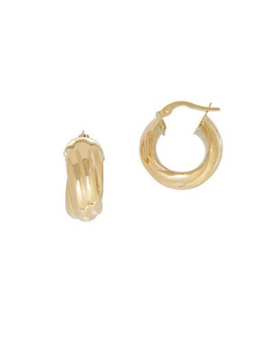 Fine Jewellery 14K Yellow Gold Hoop Earrings-YELLOW-One Size