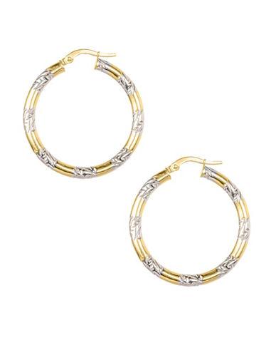 Fine Jewellery 14KT Yellow Gold Hoop Earrings-GOLD-One Size