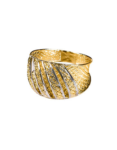 Fine Jewellery 14K Yellow Gold Mesh Design Ring-GOLD-7