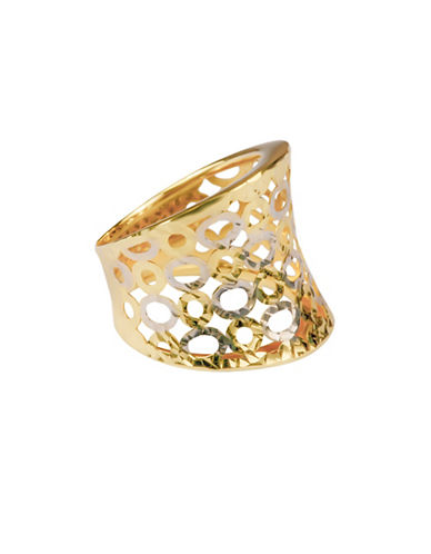 Fine Jewellery 14K Yellow Gold Concave Circle Cut-Out Ring-GOLD-7