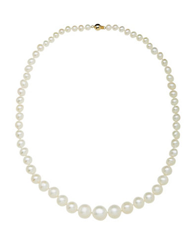 Fine Jewellery 5-12mm Graduated Pearl and 14KT Gold Necklace-PEARL-One Size