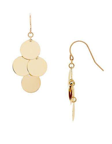 Fine Jewellery 14K Gold Disc Dangle Earrings-YELLOW GOLD-One Size