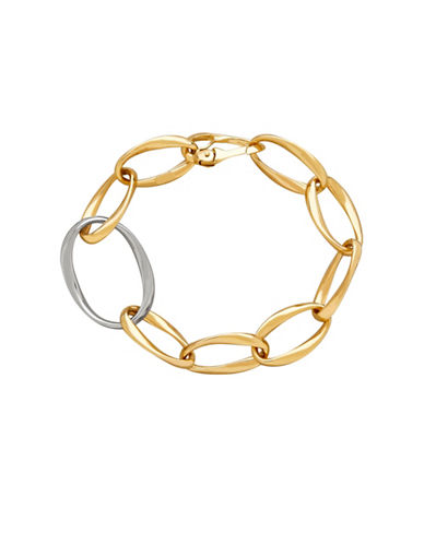 Fine Jewellery 14K Gold Two-Tone Twisted Link Necklace-YELLOW/WHITE GOLD-One Size