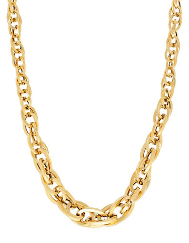 Fine Jewellery 14K Yellow Gold Interlock Oval Links Necklace-YELLOW GOLD-One Size