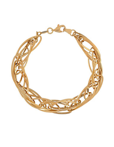 Fine Jewellery 14K Gold Twisted Bracelet-YELLOW GOLD-One Size