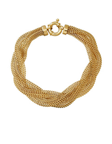 Fine Jewellery 14K Gold Twisted Mesh Bracelet-YELLOW GOLD-One Size
