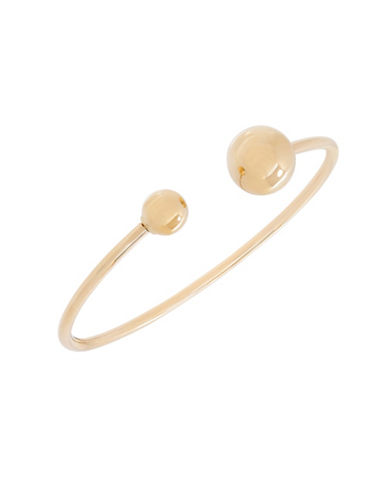 Fine Jewellery 14K Gold Bead Bangle-YELLOW GOLD-One Size