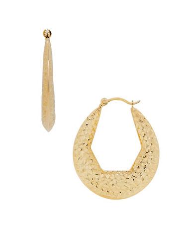 Fine Jewellery 14K Gold Hoop Earrings-YELLOW GOLD-One Size
