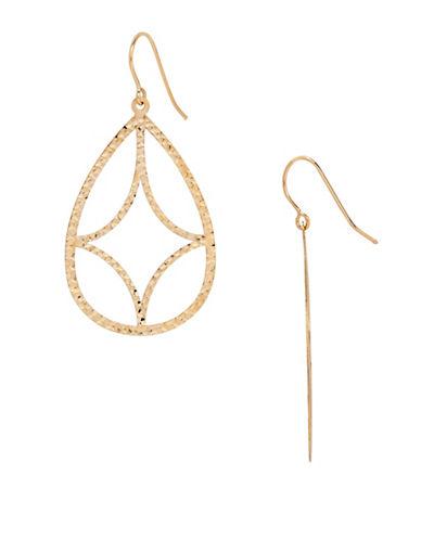 Fine Jewellery 14K Gold Teardrop Dangle Earrings-YELLOW GOLD-One Size