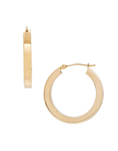 Fine Jewellery 14K Gold Hoop Earrings-YELLOW GOLD-One Size
