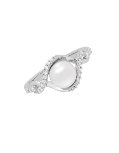 Fine Jewellery 7-7.5MM Freshwater Pearl Sterling Silver Pearl Ring-PEARL-One Size