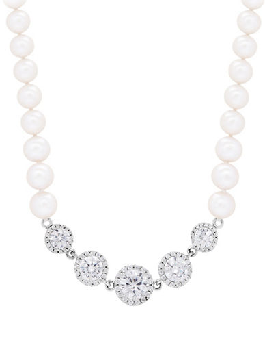 Fine Jewellery 6.5-7MM Freshwater Pearl and Sterling Silver Necklace-PEARL-One Size