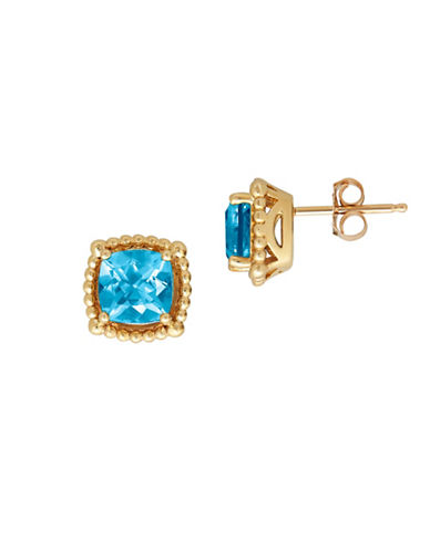 Fine Jewellery 14K Blue Topaz Stud Earrings-BLUE TOPAZ-One Size